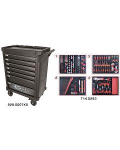 Servante 7 tiroirs - édition limitée BLACK EDITION équipée de 293 outils
