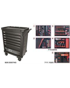 Servante 7 tiroirs - édition limitée BLACK EDITION équipée de 318 outils